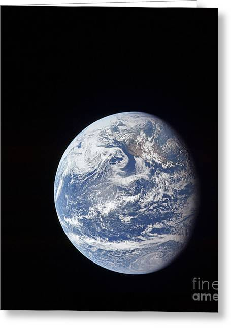 1960-1969 Greeting Cards - Planet Earth Taken By The Apollo 11 Greeting Card by Stocktrek Images