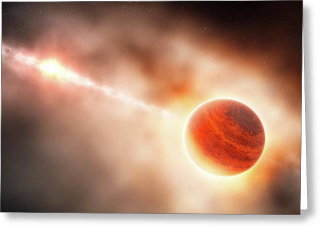 Planet Formation Around A Star Greeting Card by Eso/l. Calcada