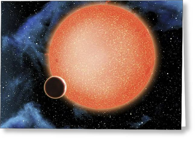Super Stars Greeting Cards - Planet GJ1214b, artwork Greeting Card by Science Photo Library