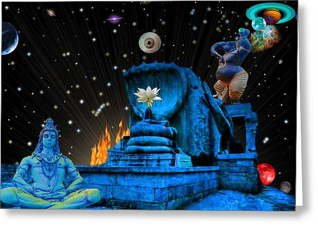 Flower Pink Fairy Child Greeting Cards - Planet of Shiva  Greeting Card by Jason Saunders