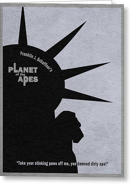 Planet Of The Apes Greeting Card by Ayse Deniz