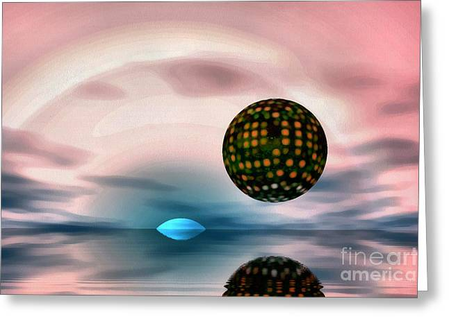 Planet Reflections Greeting Card by Odon Czintos