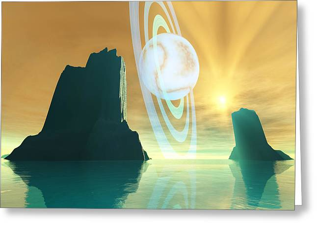 Star Valley Digital Greeting Cards - Planet X Greeting Card by Corey Ford