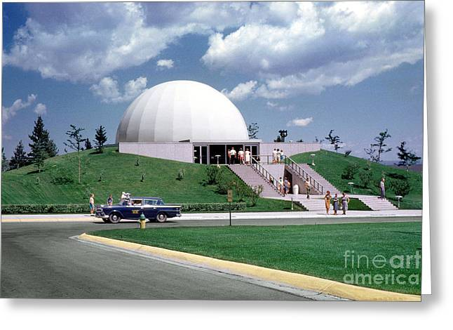 From The Dome Greeting Cards - U.S. Air Force Academy Planetarium at Colorado Springs 1961 Greeting Card by Wernher Krutein