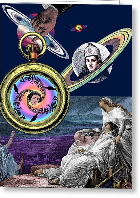 Collage Greeting Cards - Planetary Oracles Greeting Card by Eric Edelman