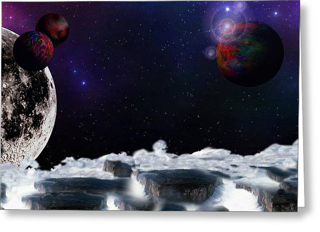 Outerspace Greeting Cards - Planetopia Greeting Card by Christopher Soeters