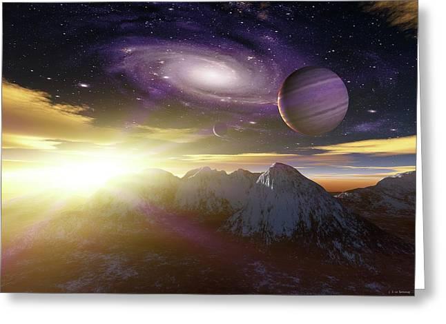Planets In Messier 81 Greeting Card by Detlev Van Ravenswaay