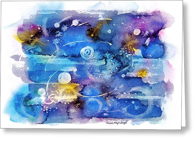 Loose Style Paintings Greeting Cards - Planets Greeting Card by Michele Angel