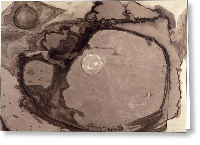 Cave Drawings Greeting Cards - Planets Greeting Card by Victor Hugo