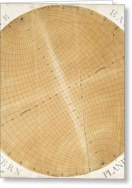 Dunn Greeting Cards - Planisphere Disc, 18th Century Greeting Card by The Lionel Pincus And Princess Firyal Map Division