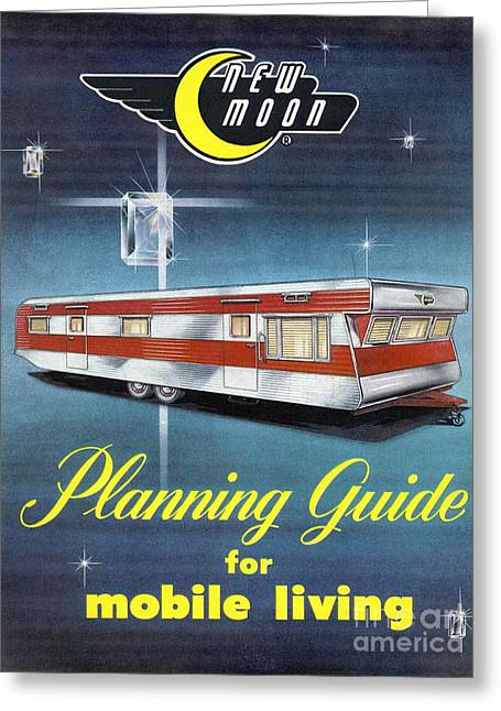 Incorporated Greeting Cards - Planning Guide For Mobile Living, 1950s Greeting Card by Hagley Archive