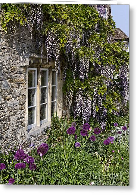House Plants Greeting Cards - Plant Covered House Lacock Greeting Card by Robert Preston