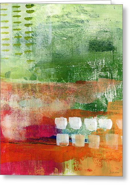 Plantation- Abstract Art Greeting Card by Linda Woods