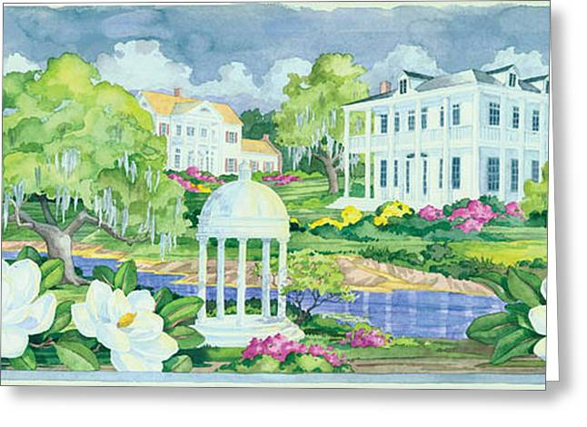 Plantation Greeting Cards - Plantation Home Greeting Card by Paul Brent