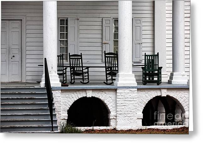 Plantation Porch Greeting Card by John Rizzuto