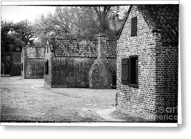 Slavery Greeting Cards - Plantation Quarters Greeting Card by John Rizzuto