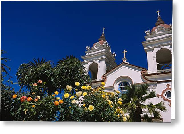 Silicon Greeting Cards - Plants In Front Of A Cathedral Greeting Card by Panoramic Images