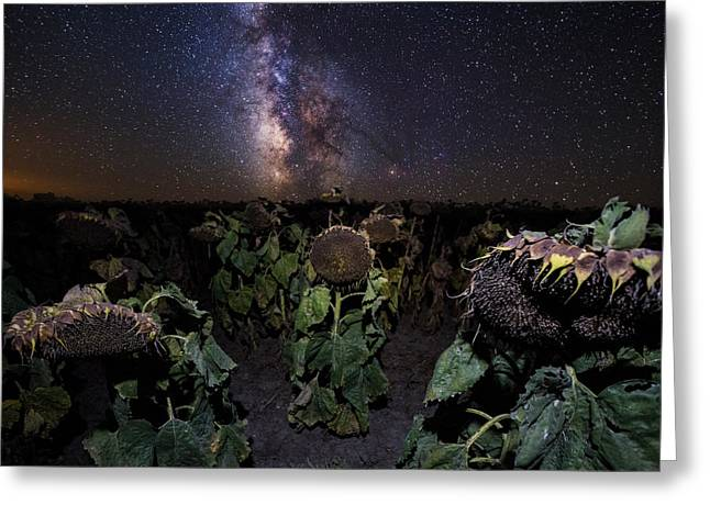 Vs Greeting Cards - Plants Vs Milky Way Greeting Card by Aaron J Groen