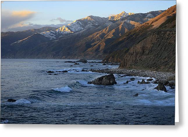 Coast Highway One Greeting Cards - Plaskett Point North 2011 Greeting Card by Ralph Nordstrom