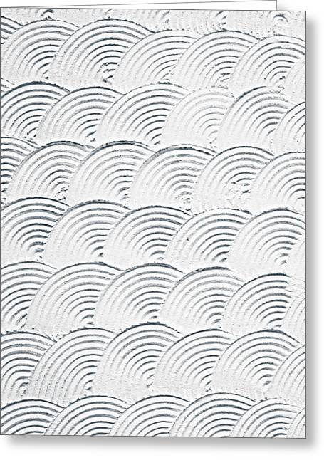 Backdrop Greeting Cards - Plaster pattern Greeting Card by Tom Gowanlock