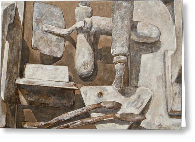 Plasterer's tools 2 Greeting Card by Anke Classen
