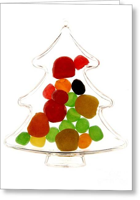 Plastic Christmas Tree Containing Sweet Greeting Card by Bernard Jaubert