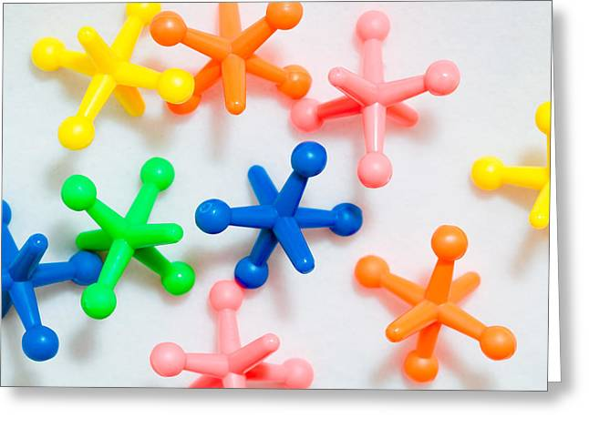 Molecular Greeting Cards - Plastic toys Greeting Card by Tom Gowanlock