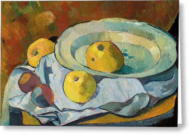 Apple Greeting Cards - Plate of Apples Greeting Card by Paul Serusier