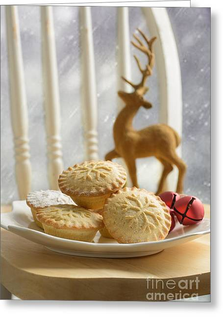 Jingle Greeting Cards - Plate Of Mince Pies Greeting Card by Amanda And Christopher Elwell