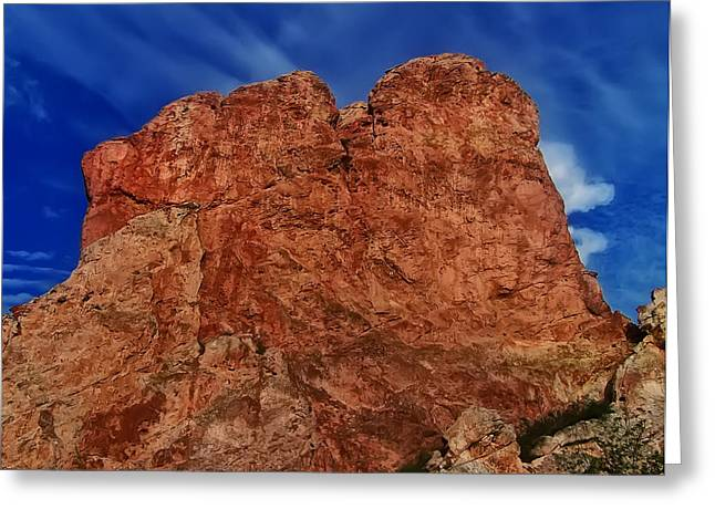 Landscape Posters Digital Greeting Cards - Plateau Rock Formation Greeting Card by Chris Flees