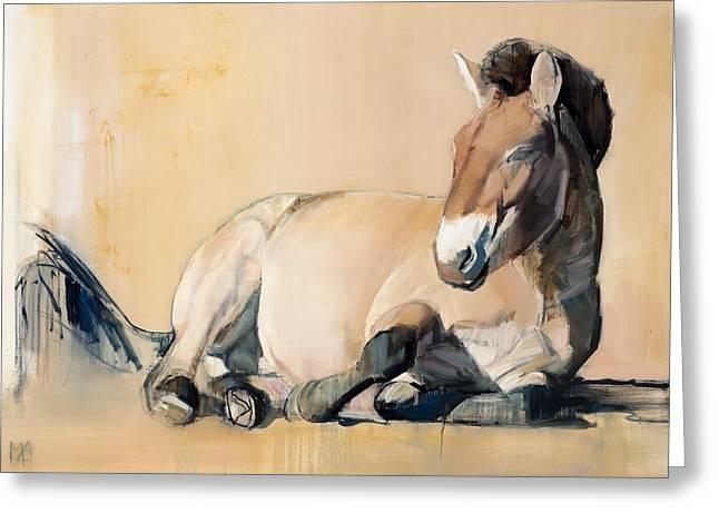 Wild Horse Greeting Cards - Plateau Sun Greeting Card by Mark Adlington