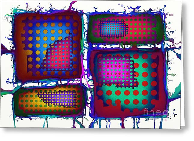 Splashy Digital Greeting Cards - Plated Greeting Card by Keith Mills