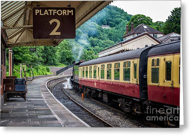 Carriage Digital Art Greeting Cards - Platform 2 Greeting Card by Adrian Evans