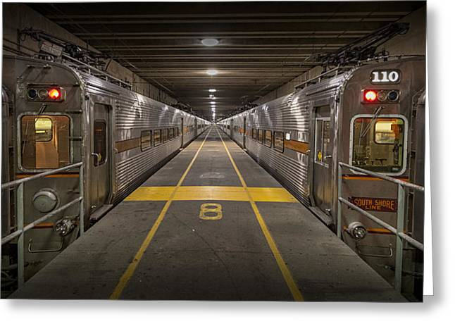 Rail Line Greeting Cards - Platform Eight at Union Station Greeting Card by Adam Romanowicz