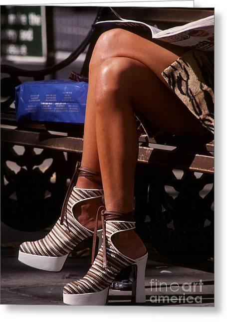 Platform Shoes Greeting Card by Ros Drinkwater