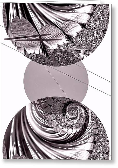 Geometrical Art Greeting Cards - Platinum Pearl Greeting Card by Susan Maxwell Schmidt