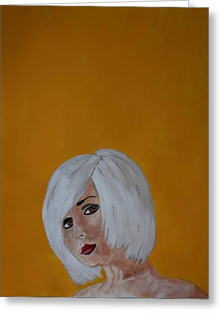 Platinum Blonde Greeting Cards - Platinum Greeting Card by Ralph LeCompte