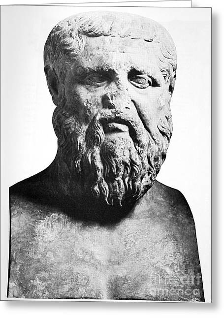 Plato Greeting Cards - Plato, Ancient Greek Philosopher Greeting Card by Spl