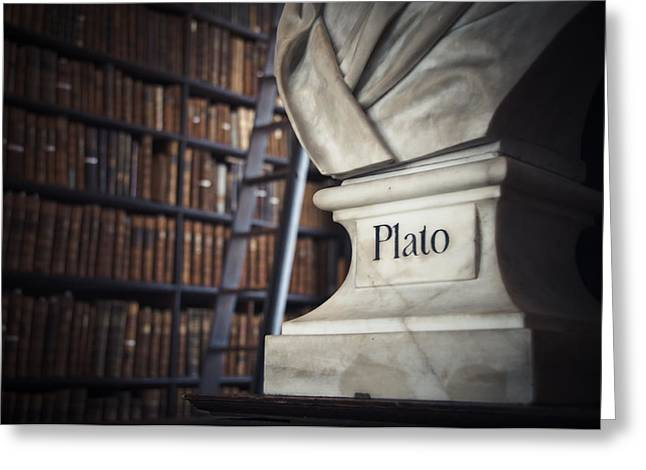 Old Shelfs Greeting Cards - Plato  Greeting Card by Mesha Zelkovich
