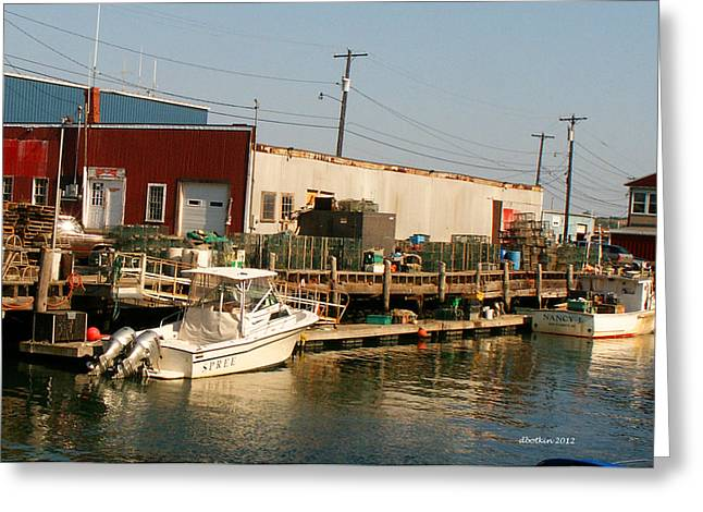 Lobsterboat Greeting Cards - Play and Work Greeting Card by Dick Botkin