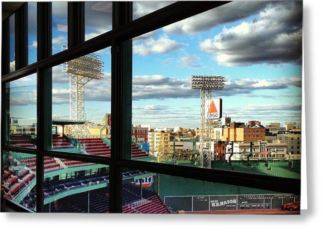 Fenway Press Box Greeting Cards - Play Ball Greeting Card by Amy Baker