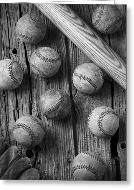 Rusty Nail Greeting Cards - Play Ball Greeting Card by Garry Gay