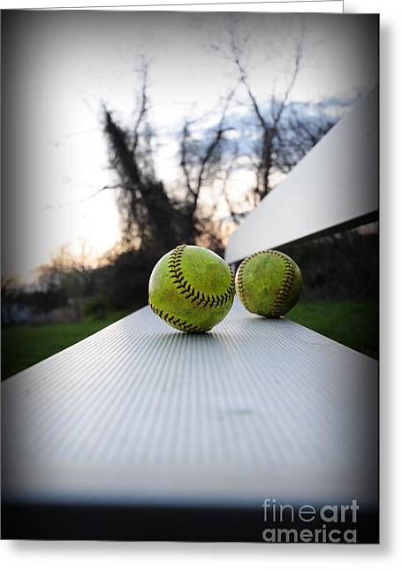 Baseball Bat Greeting Cards - Play Ball Greeting Card by Paul Ward