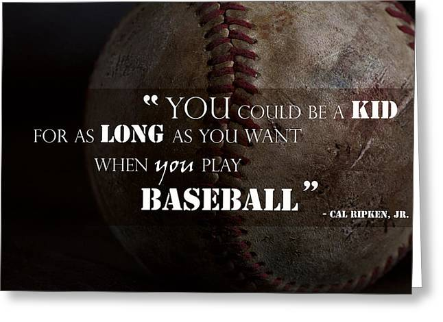 Ripken Greeting Cards - Play Baseball Greeting Card by Eugene Campbell