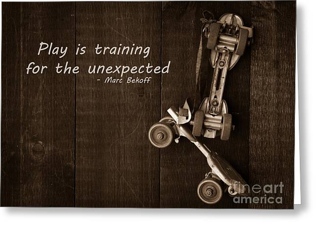 Play Photographs Greeting Cards - Play is training for the unexpected Greeting Card by Edward Fielding