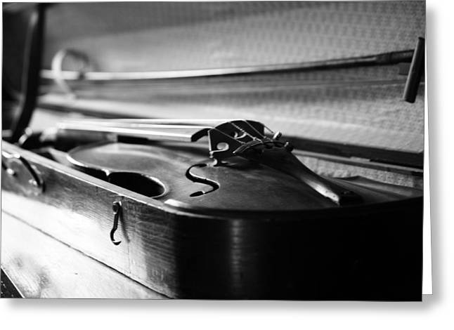 Hotel Window Greeting Cards - Play My Song Greeting Card by Jerry Cordeiro