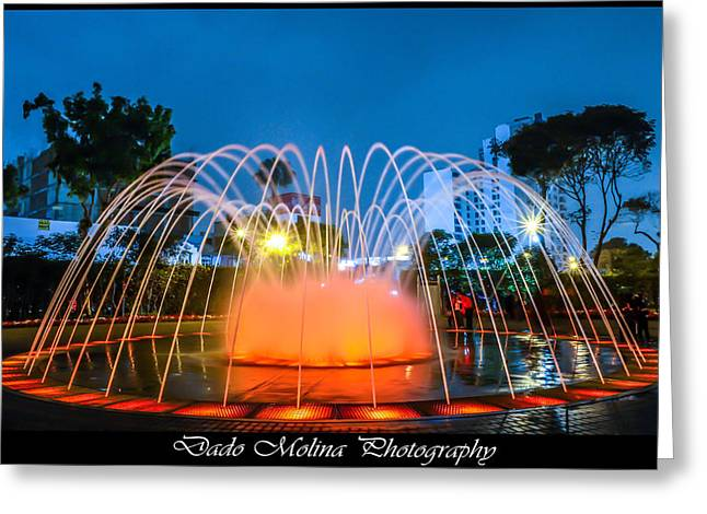 Fountain Photograph Greeting Cards - Play Time Greeting Card by Dado Molina