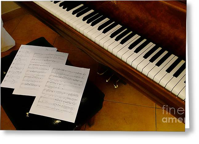 Souvenir Photo Studio Greeting Cards - Play Us A Tune Please II Greeting Card by Al Bourassa