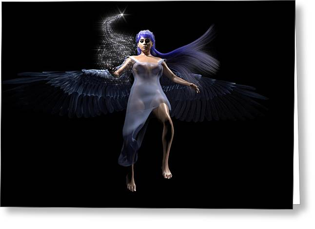 Playing Angels Digital Greeting Cards - Play With Stars Greeting Card by Brainwave Pictures