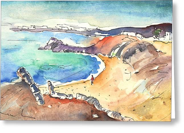Playa Blanca Greeting Cards - Playa Blanca in Lanzarote 01 Greeting Card by Miki De Goodaboom